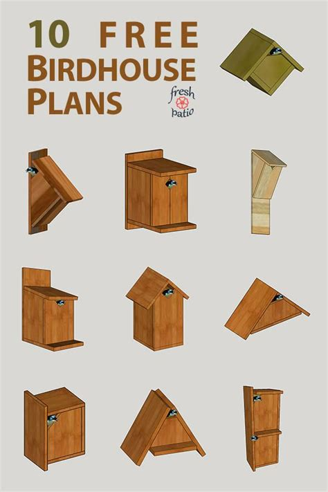 Printable Bird House Plans Designs