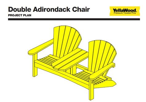 Printable Double Adirondack Chair Plans