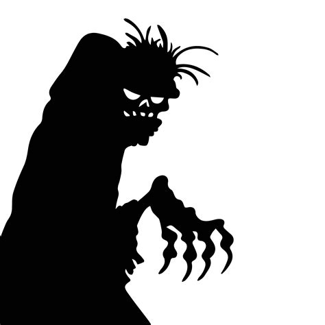 Printable Large Silhouette Halloween Patterns