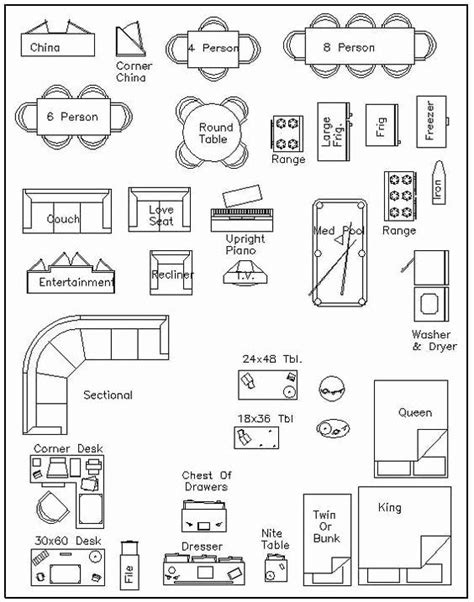 Printable-Furniture-Templates-For-Floor-Plans