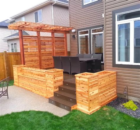Privacy Fence Planter Boxes