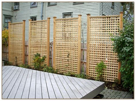 Privacy Lattice Panels For Fences