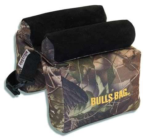 Pro-Series Bulls Bag Camo Suede Shooting Rest.
