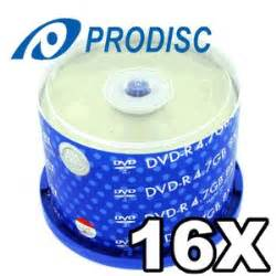 Prodisc 16X DVD-R Shiny-Silver 100 Pack in Cakebox