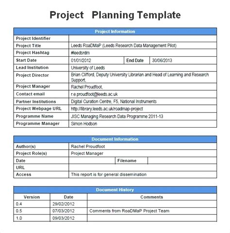 Project Management Plan Example Pmi