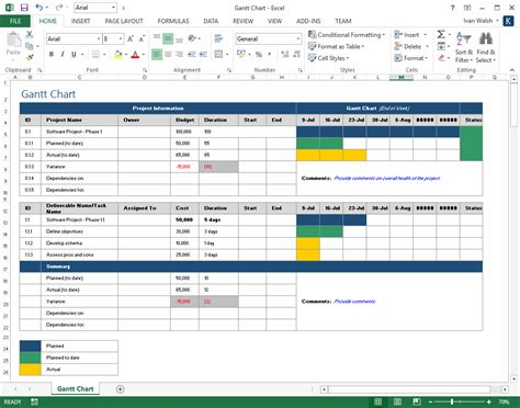 Project Plan Template Excel Free
