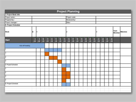 Project Planner Xls