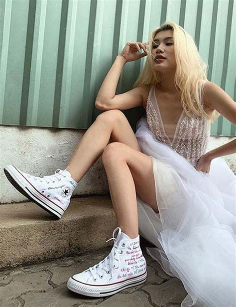 Prom Dress With Converse Sneakers