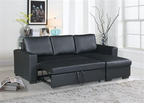 Promos Leather Sectionals With Pull Out Bed