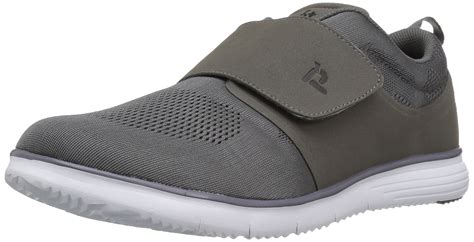 Propet Men's TravelFit Strap Walking Shoe, Grey, 8.5 5E US