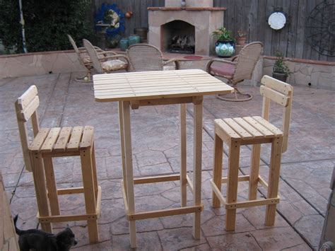 Pub Table And Chairs Building Plans