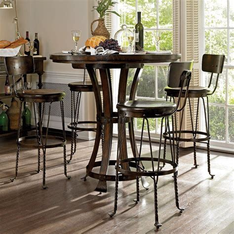 Pub-Table-And-Chairs-Round-Farmhouse