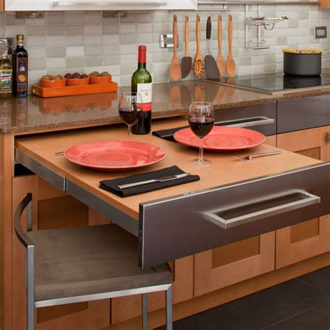 Pull Out Kitchen Cabinet Table