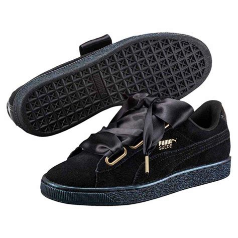 Puma Basket Heart Suede And Satin Sneakers