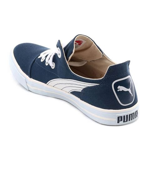 Puma Blue Canvas Sneakers