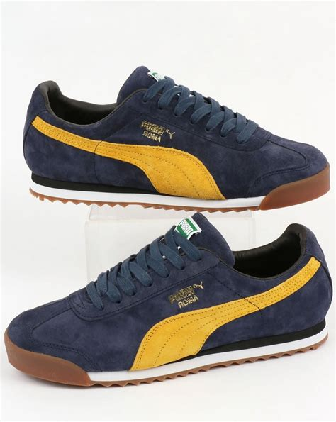 Puma Blue Yellow Sneakers
