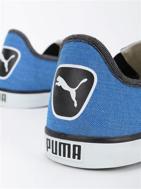 Puma Boys Blue Lazy Ii Dp Colourblocked Slip On Sneakers