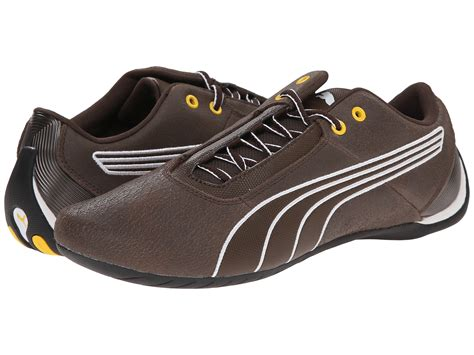 Puma Brown Leather Sneakers