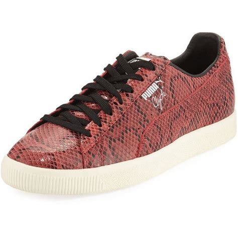 Puma Embossed Leather Fashion Sneakers