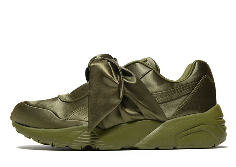 Puma Fenty Green Satin Sneakers