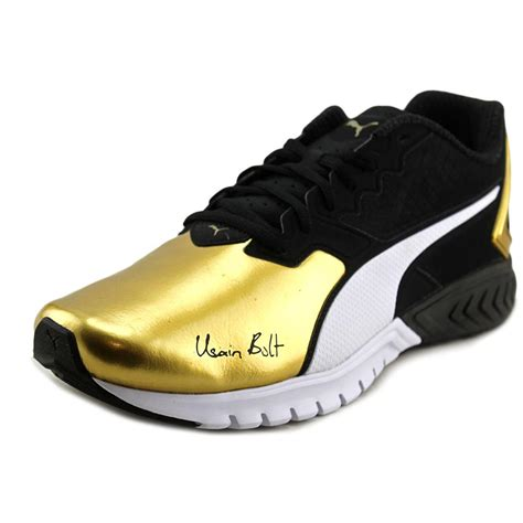 Puma Gold And Black Sneakers