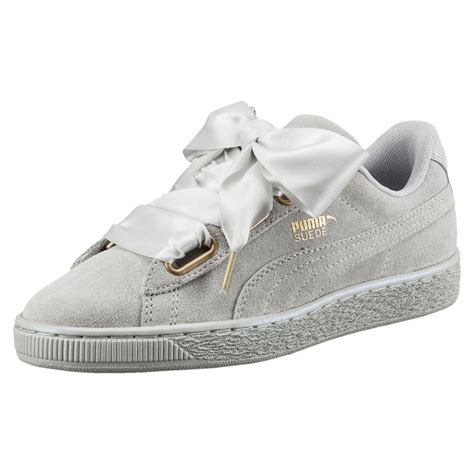 Puma Gray Satin Sneakers