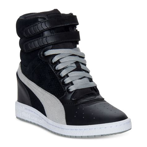 Puma High Wedge Sneakers