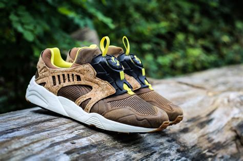 Puma Leather Disc Cage Lux Cork Sneakers