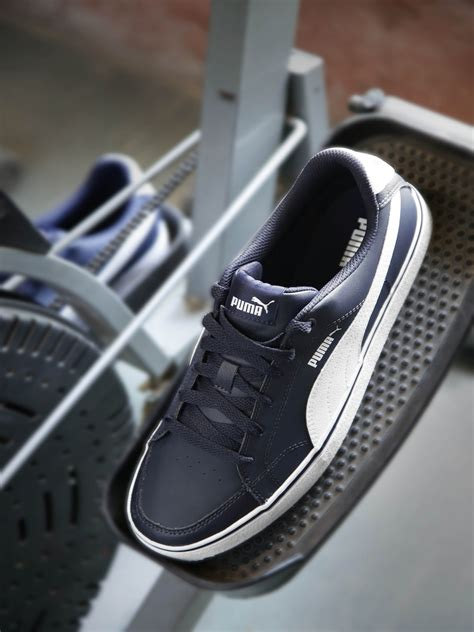 Puma Men Navy Court Point Vulc Suede Sneakers
