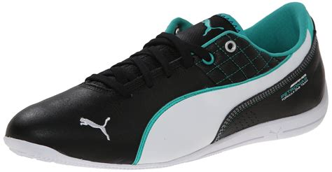 Puma Men's Mercedes Drift Cat 6 Leather Lace-up Fashion Sneaker