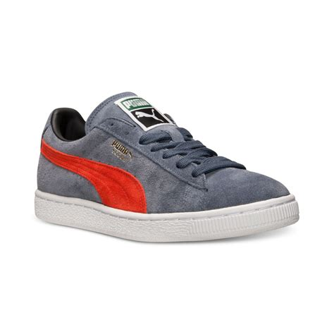 Puma Men's Suede Classic Sneakers Gray Black