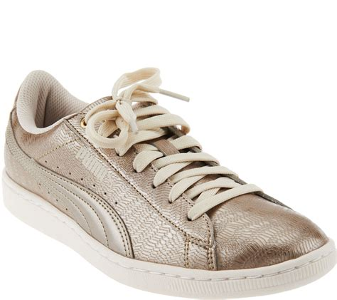 Puma Metallic Lace-up Sneakers Vikky Metallic