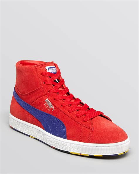 Puma Mid Sneakers Suede Red