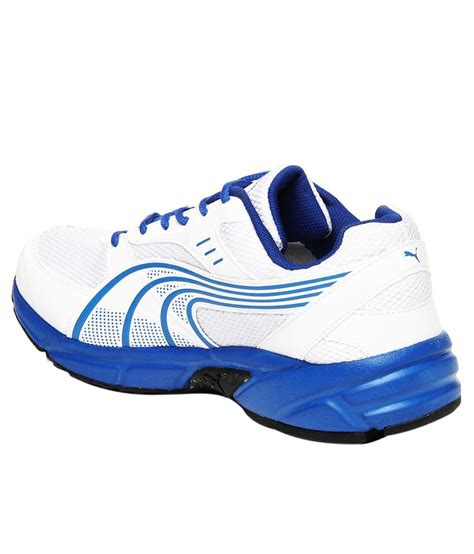 Puma Modish White And Blue Sneakers