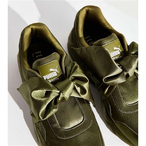 Puma Olive Bow Sneakers