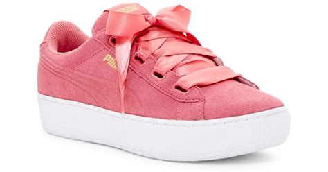 Puma Pink Ribbon Sneakers
