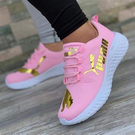 Puma Sneakers Pink And Gold