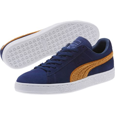 Puma Suede Classic Embossed Coffee Sneakers