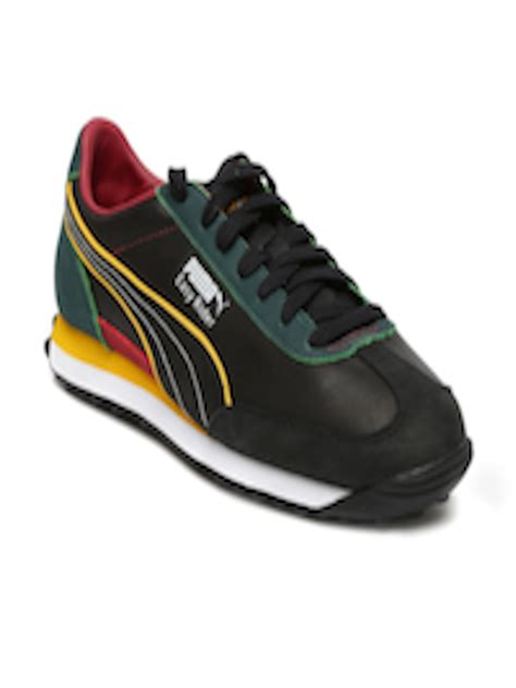 Puma Unisex Black & Blue Slyde Dp Sneakers