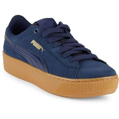 Puma Vikky Leather-blend Lace-up Sneakers