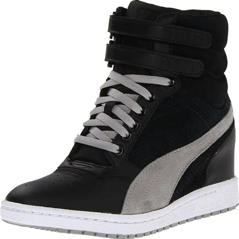 Puma Wedge Sneakers Black And White