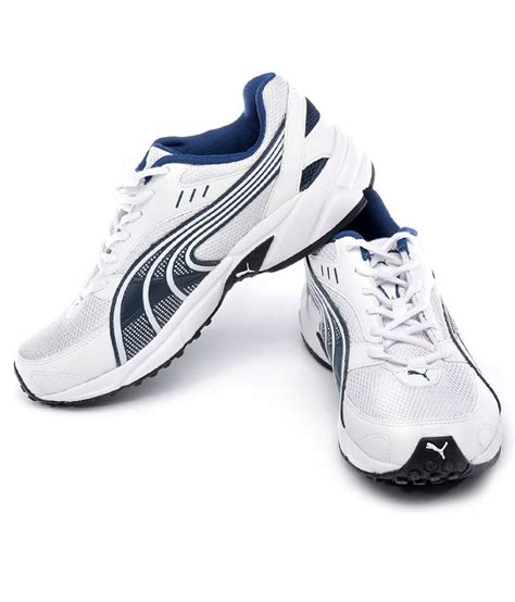 Puma White And Blue Sneakers