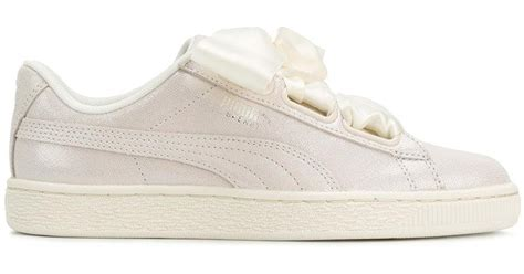 Puma White Sneakers With Ribbon