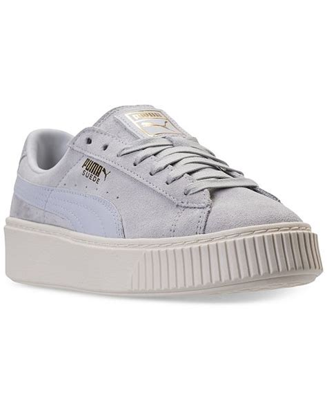 Puma Women's Suede Platform Core Casual Sneakers From Finish Line