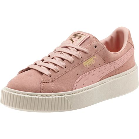 Puma Women's Suede Platform Core Casual Sneakers Halogen Blue