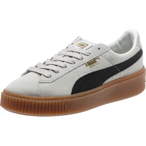 Puma Women's Suede Platform Core Fashion Sneaker Oatmeal