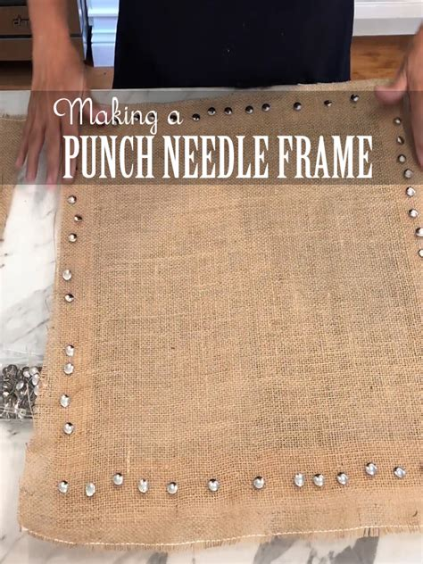 Punch Needle Frame Diy Canvas