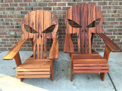 Punisher Skull Adirondack Chair Templates