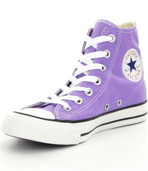 Purple Converse High Top Sneakers