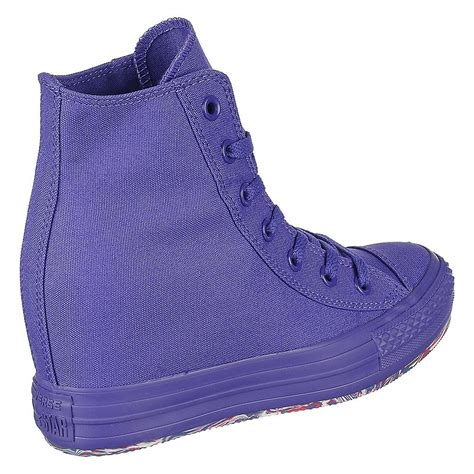 Purple Converse Wedge Sneakers
